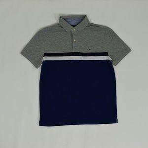 Tommy Hilfiger Shirts - Tommy Hilfiger Regular L/G Jr. Blue   Polo Cotton